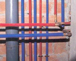 Manguera Protec para proteccion de tuberia de cobre en calefación