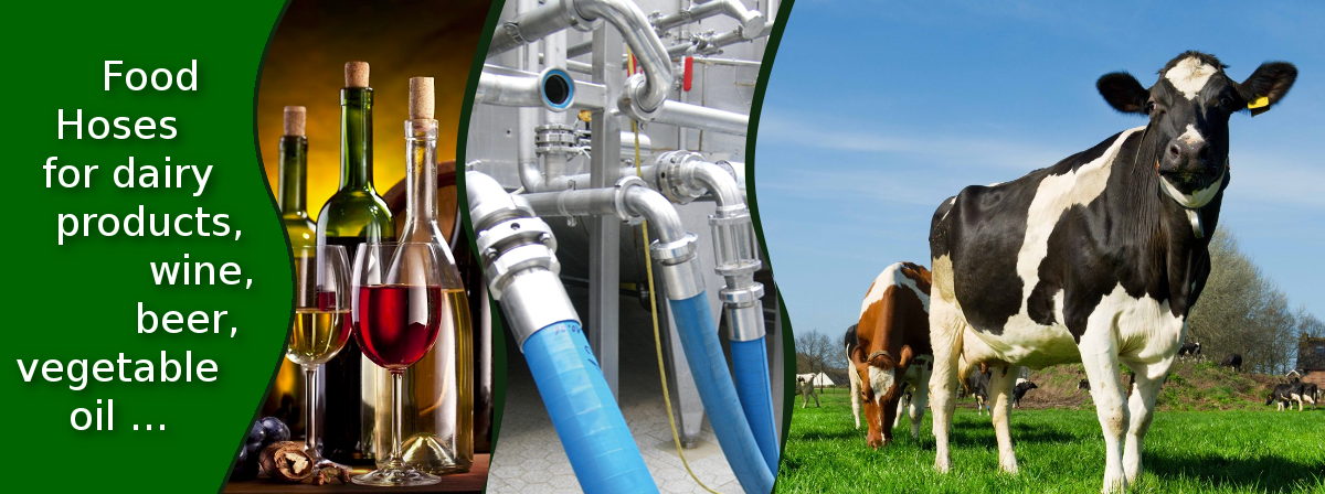 Food Hoses for dairy products, wine, beer, vegetable oil...